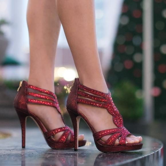 df4533eb1da585 De Blossom Collection Shoes - Strappy Red heels